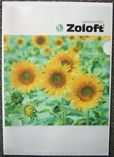 Zoloft A4 plastic document folder (drug rep)