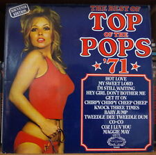 THE BEST OF THE TOP OF THE POPS '71 SEXY CHEESECAKE GATEFOLD COVER UK PRESS LP