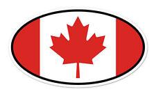 """Maple Leaf Flag Of Canada Oval car bumper sticker decal 5"""" x 3"""""""