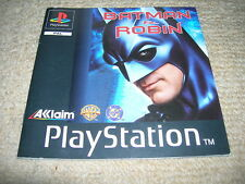 BATMAN & ROBIN – PS1 PAL Instruction Manual Only