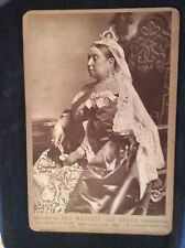 Rare Cabinet Photo Queen Victoria A. Bassano London United Kingdom Royal England