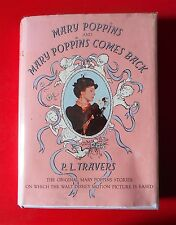 Disney edition MARY POPPINS & MARY POPPINS COMES BACK 1964 book Julie Andrews dj