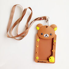 Rilakkuma San-X Bear Badge Lanyard Card Holder Wallet Neck Strap Travel Work