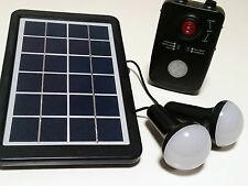 FlinMini Express Solar Lighting Kit - Includes Solar Panel, LED Bulbs, Battery