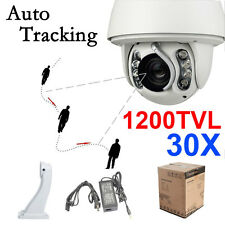 8IR 1200TVL CCTV 30X ZOOM Auto Tracking Waterproof Outdoor Dome PTZ Camera #205