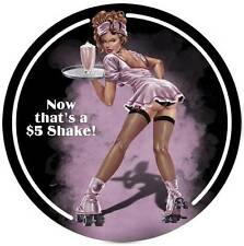 Lethal Threat Pin Up Girl Roller Skate Shake Metal Sign Man Cave Garage LETH014