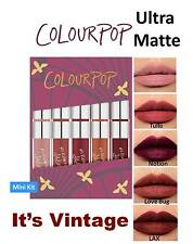 Colourpop ITS VINTAGE Mini Size Lipstick Kit