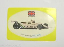 VECCHIO ADESIVO F1 / Old Sticker ALAN JONES WILLIAMS GREAT BRITAIN (cm 9 x 6)