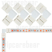 "4 Sets 10mm ""L"" Corner Connectors for 2 Pins Single Color 5050 LED Strip USAShip"