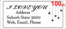 100 Personalised return address label custom mailing sticker 56x25mm stars