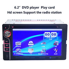6.2Inch HD 2-DIN in Dash Car DVD CD Player Touch LCD MP3 Radio Stereo Bluetooth