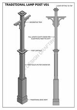 TRADITIONAL LAMP POST LIGHT V01 - Construction Plans 2D & 3D - BUILD & SAVE $$$