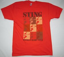 *WOW* SELTEN Official STING Merchandise BROKEN MUSIC TOUR 2005 Star T-Shirt g.M