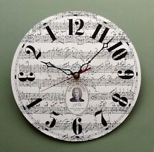 Bach in Time Wall Clock with BACKWARDS MOVEMENT