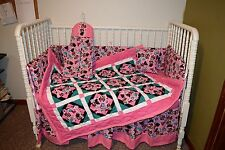 CRIB BEDDING SET MADE/W MINNIE MOUSE FABRIC