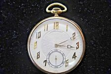 * 14K 14KT YELLOW GOLD VINTAGE ESTATE LONGINES POCKET WATCH RECENTLY SERVICED