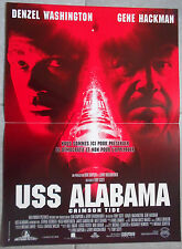 Affiche USS ALABAMA Crimson Tide GENE HACKMAN Denzel Washington 40x60cm