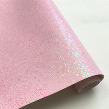 Hexagon Glitter Fabric Roll Shiny Twinkle Sequin Leather Vinyl Craft Material