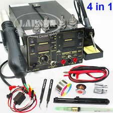 909D+ 800W Rework Soldering Station Iron Heat Hot Air Gun DC + USB Power Supply