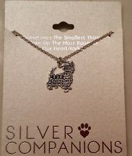 "NEW Yorkie Yorkshire Terrier Dog Fine Silver Plated Pendant Necklace 18"" Chain"