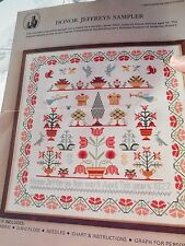 Vtg Smithsonian Institution Counted Cross Stitch Honor Jefferys Sampler Pattern