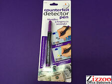 5 X COUNTERFIET MONEY DETECTOR PEN -  IDENTIFIES A FORGERY IN SECONDS - FREE P&P