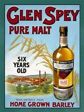 Glen Spey, Pure Malt Scotch Whisky, Pub, Bar & Restaurants, Large Metal/Tin Sign