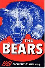 1951 Chicago Bears Football Media Guide, Larry Lujack, Bulldog Turner ~ EX