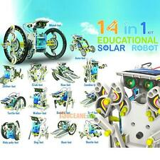 14in1 Solar Power DIY Model Robot Boat Ship Car Learning Toy Kit Kid Xmas Gift