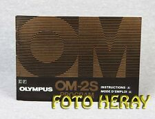 Olympus OM2S Program original operating instructions E. F. 02402