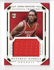 MONTREZL HARRELL NBA 2015-16 NATIONAL TREASURES SUPER SWATCHES ROOKIES (ROCKETS)