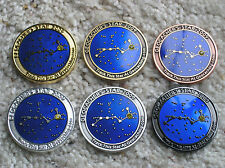 COMPLETE set of SIX geocoins! Stars, 2009, Big Dipper / Bear! Ultra Rare!