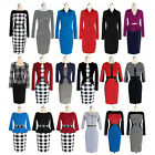 Womens Elegant Peplum Wear To Work Business Casual Party Cocktail Sheath Dress J