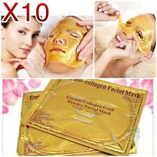 X10 Crystal Gold Collagen 24K Facial Mask Moisturzing Anti-aging Awesome result