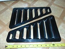 "2 Nos Vintage Universal Flush Mount Hood Vents Snowmobile ATV Custom 14"" x 9"""