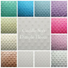 Dimple Minky Cuddle Soft Plush Popcorn Fleece 150cm Wide Fabric Various Colours