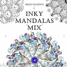 Inky Mandalas Mix Adult Colouring Book Creative Meditation Therapy Fun Relaxing