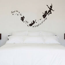 Second Star To The Right Wall Stickers Quote Home Decal Art Vinyl Kids Decor Diy