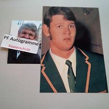MORNE DU PLESSIS RUGBY player SPRINGBOKS IN-PERSON signed photo 8 x 12 autograph
