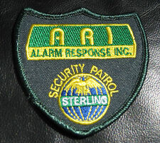 ALARM RESPONSE EMBROIDERED SEW ON PATCH SECURITY PATROL STERLING  ARI