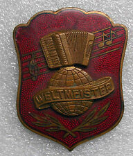 very rare WELTMEISTER ACCORDION EMBLEM enamel