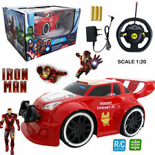 MARVEL ULTIMATE AVENGERS IRON MAN ELECTRIC RC RADIO REMOTE CONTROL CAR KIDS TOY