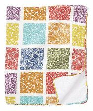 "BRAND NWT Beautiful 50""W X 60""L Multi-Color Floral Patchwork Print QUILT"