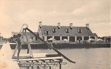1930's Community House & Swimming Pier Ocean Beach Fire Island LI NY post card