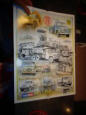"""France Routes"" Magazine Poster illustré Ancien Camion Tchèque TATRA"