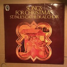 St. Paul's Cathedral Choir ‎– Songs For Christmas Vinyl LP 1968 VGC