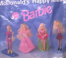 Vintage 1995 McDonald's Happy Meal Toys BARBIE Complete Set Mattel Girls 3+