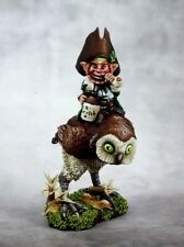 Leprechaun and Owl Reaper Miniatures Dark Heaven Legends Mounted Rider Gnome