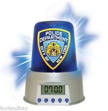 NYPD New York Police Department Flashing Emergency Light Alarm Clock New