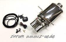 Endschalldämpfer Klappensteuerung Auspuff Audi RS4 S4 B5 für 90mm Zinram Anlage